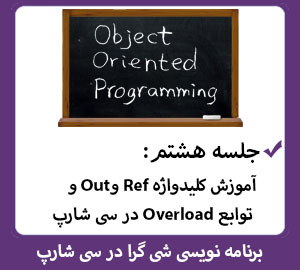 آموزش کلیدواژه Ref و Out و توابع Overload