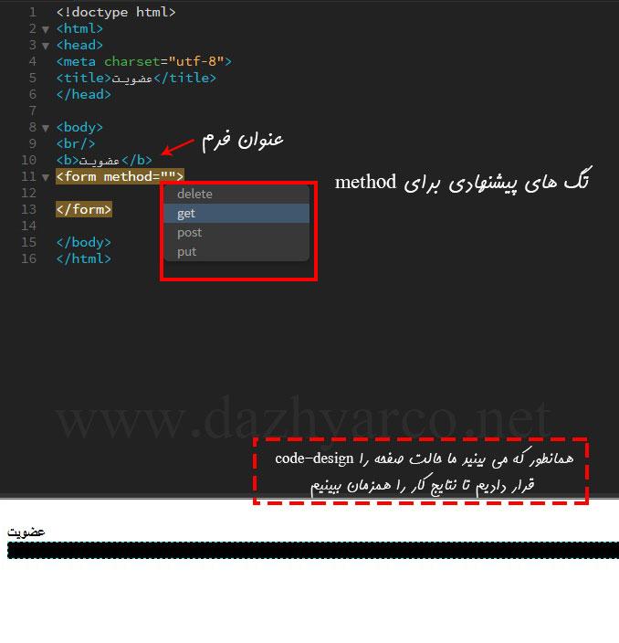 ایجاد فرم در سایت به زبان php