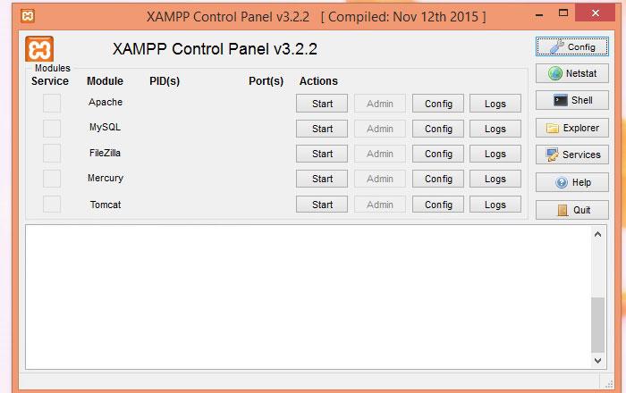 نصب Xampp