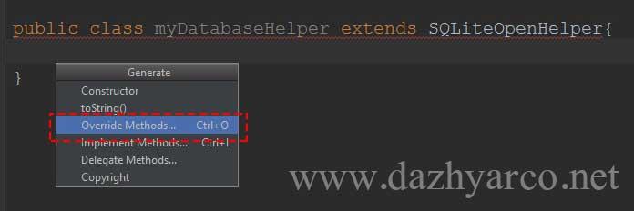 آموزش کار با دیتابیس در اندروید استودیو - ایجاد توابع کلاس SQLite