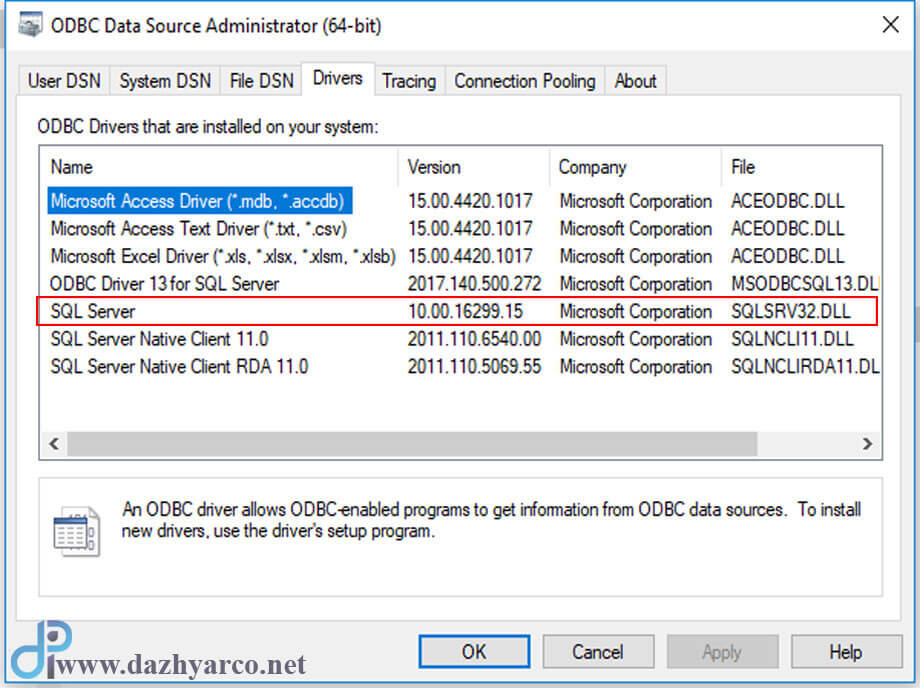 اتصال به SQL Server
