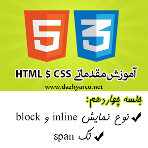 آموزش مقدماتی html و css - جلسه چهاردهم- خاصیت inline و block در css