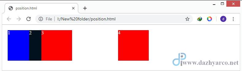 خاصیت position در css | مثال برای relative