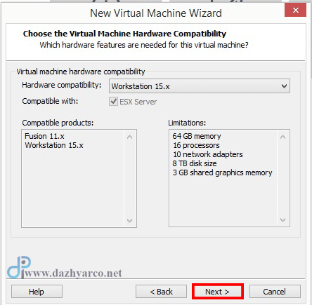 نصب ویندوز سرور 2016 در vmware | انتخاب workstation