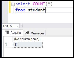 دستور count در SQL | شمارش سطرهای جدول student