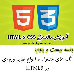 آموزش مقدماتی HTML و CSS -جلسه 25- تگ های معنادار و انواع جدید ورودی