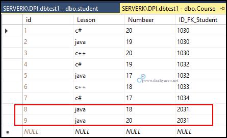 دستور delete در sql - نتیجه